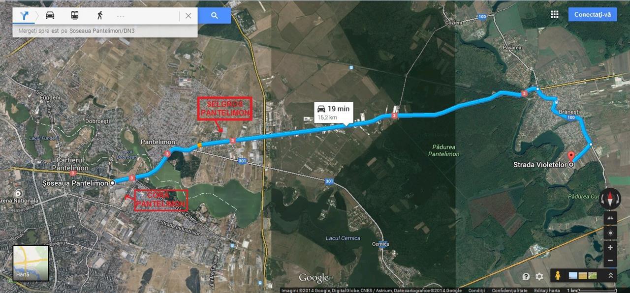 Branesti - parcele 600-700 mp