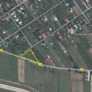 Vanzare teren Clinceni, Ordoreanu, 2500 mp, deschidere 109 mp